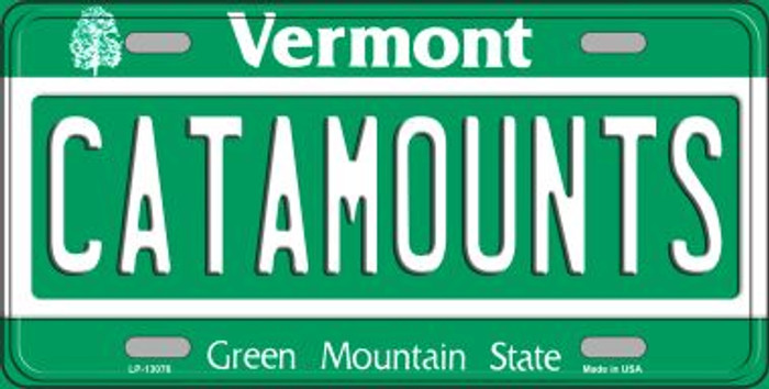 Catamounts Novelty Metal License Plate LP-13076