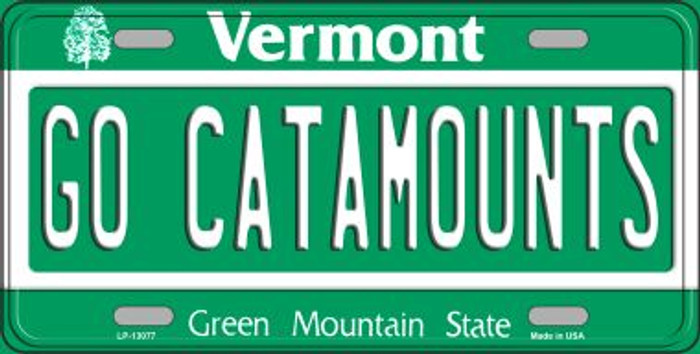 Go Catamounts Novelty Metal License Plate LP-13077