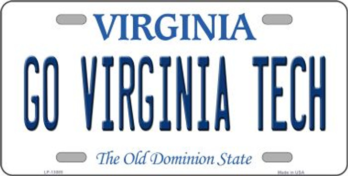 Go Virginia Tech Novelty Metal License Plate LP-13085