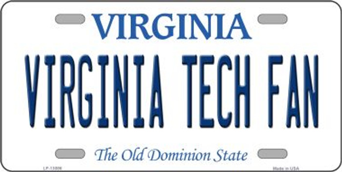 Virginia Tech Fan Novelty Metal License Plate LP-13086