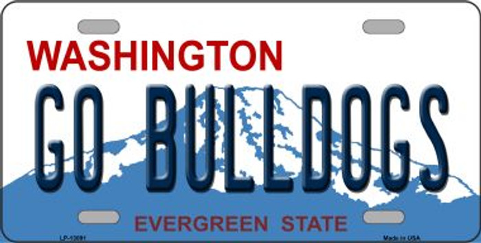 Go Bulldogs Novelty Metal License Plate LP-13091