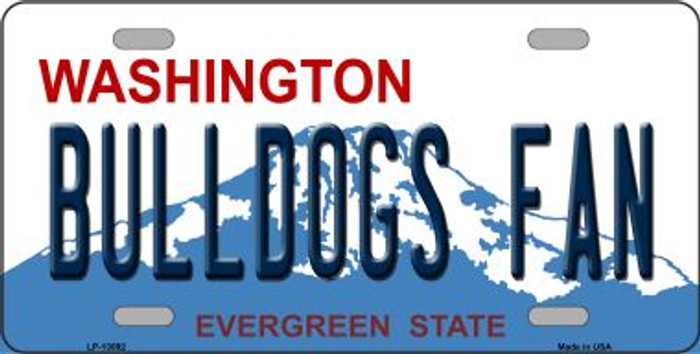 Bulldogs Fan Novelty Metal License Plate LP-13092