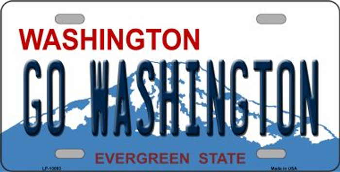 Go Washington Novelty Metal License Plate LP-13093