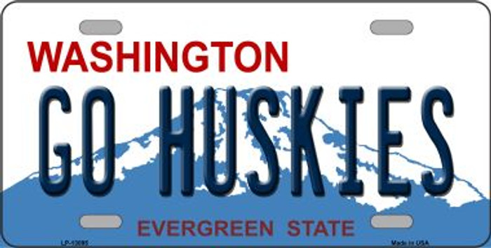 Go Huskies Novelty Metal License Plate LP-13095