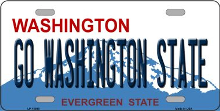 Go Washington State Novelty Metal License Plate LP-13098