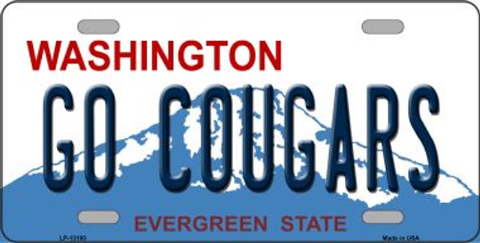 Go Cougars Novelty Metal License Plate LP-13100