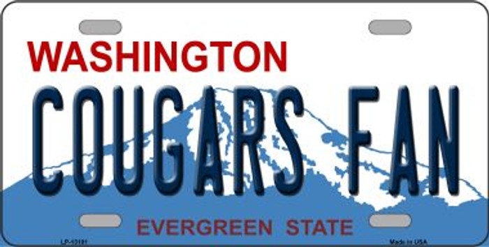 Cougars Fan Novelty Metal License Plate LP-13101