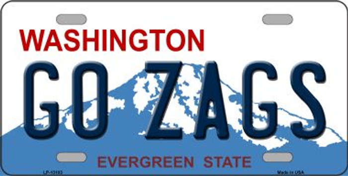 Go Zags Novelty Metal License Plate LP-13103