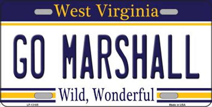 Go Marshall Novelty Metal License Plate LP-13105