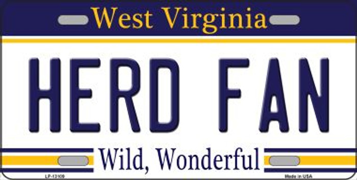 Herd Fan Novelty Metal License Plate LP-13109