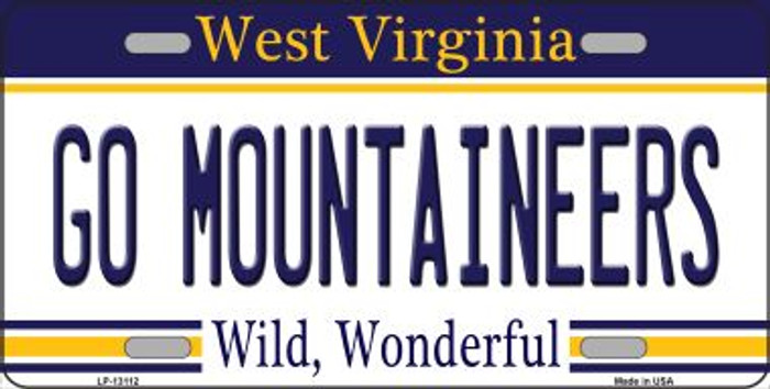 Go Mountaineers Novelty Metal License Plate LP-13112