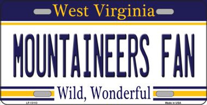 Mountaineers Fan Novelty Metal License Plate LP-13113
