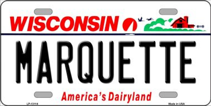 Marquette Novelty Metal License Plate LP-13114