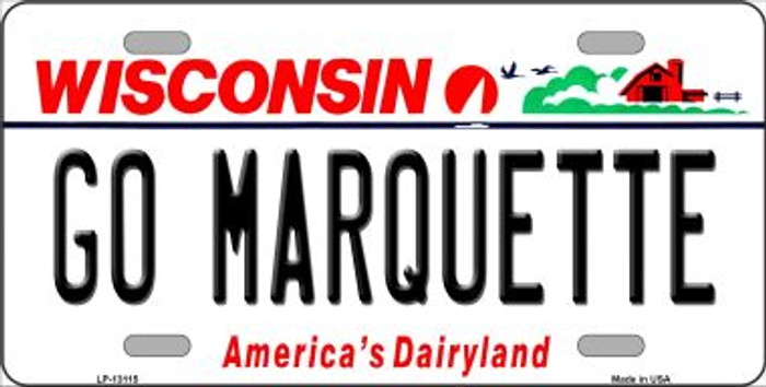 Go Marquette Novelty Metal License Plate LP-13115