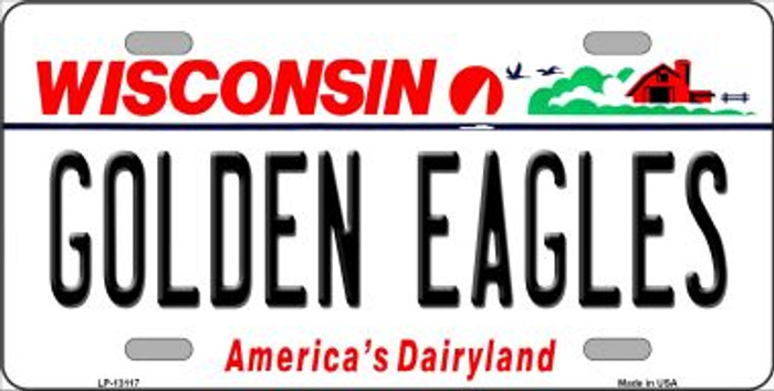 Golden Eagles Novelty Metal License Plate LP-13117
