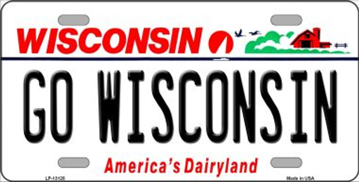 Go Wisconsin Novelty Metal License Plate LP-13120