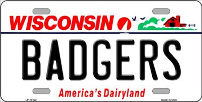 Badgers Novelty Metal License Plate LP-13122