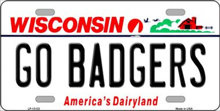 Go Badgers Novelty Metal License Plate LP-13123