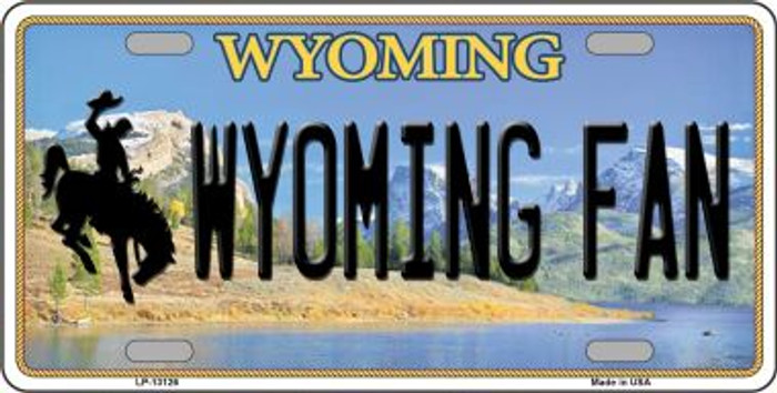 Wyoming Fan Novelty Metal License Plate LP-13126