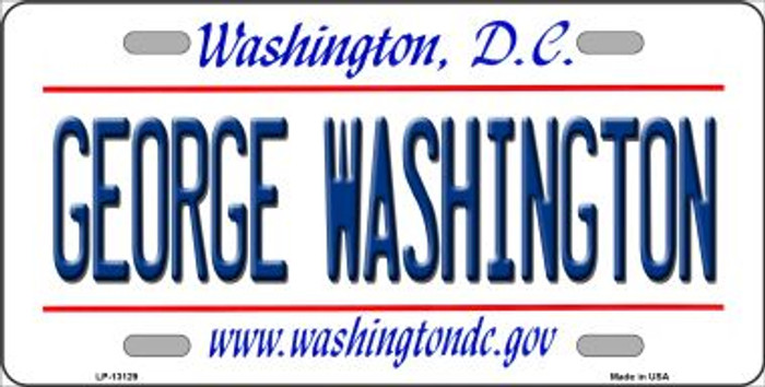 George Washington Novelty Metal License Plate LP-13129