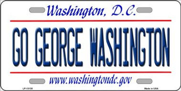 Go George Washington Novelty Metal License Plate LP-13130