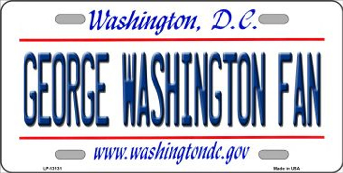 George Washington Fan Novelty Metal License Plate LP-13131