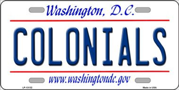 Colonials Novelty Metal License Plate LP-13132