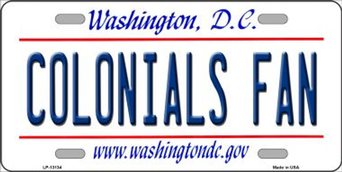 Colonials Fan Novelty Metal License Plate LP-13134