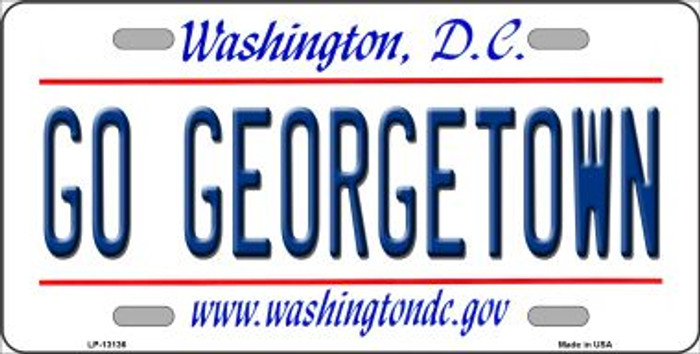 Go Georgetown Novelty Metal License Plate LP-13136