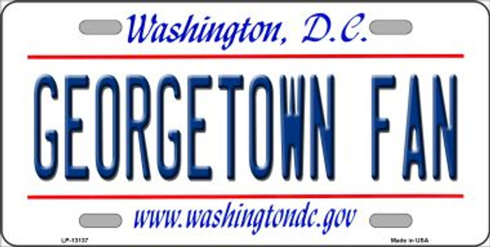 Georgetown Fan Novelty Metal License Plate LP-13137