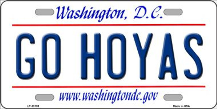Go Hoyas Novelty Metal License Plate LP-13139