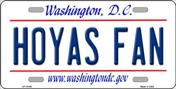 Hoyas Fan Novelty Metal License Plate LP-13140