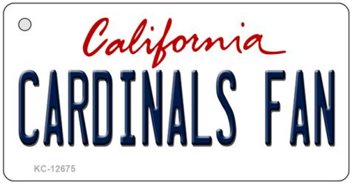 Cardinals Fan Novelty Metal Key Chain KC-12675