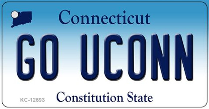 Go UConn Novelty Metal Key Chain KC-12693