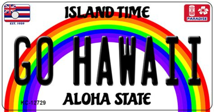 Go Hawaii Novelty Metal Key Chain KC-12729