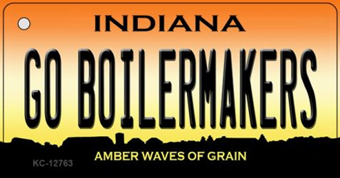 Go Boilermakers Novelty Metal Key Chain KC-12763