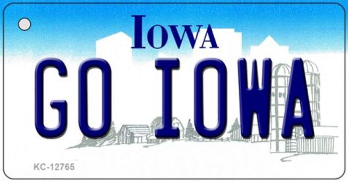 Go Iowa Novelty Metal Key Chain KC-12765