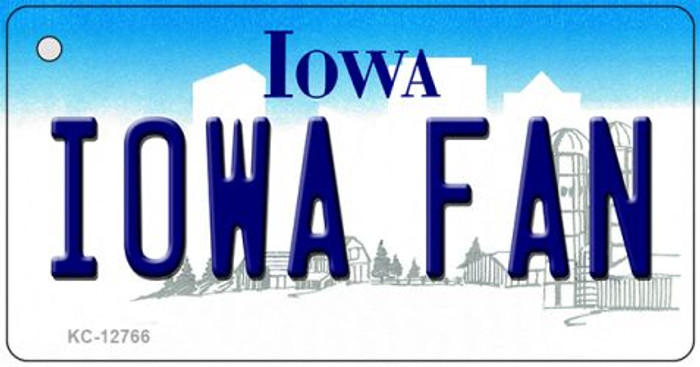 Iowa Fan Novelty Metal Key Chain KC-12766
