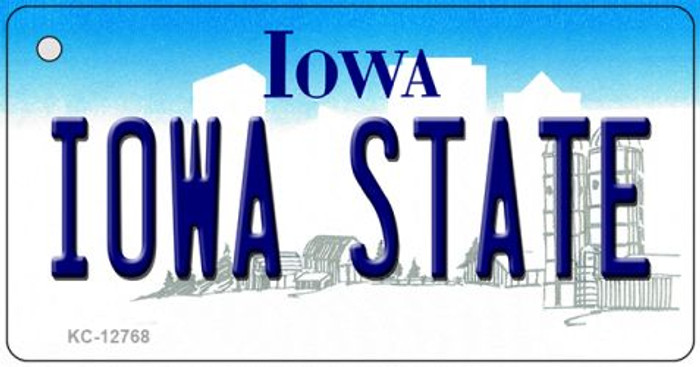Iowa State Novelty Metal Key Chain KC-12768