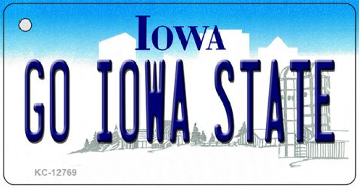 Go Iowa State Novelty Metal Key Chain KC-12769
