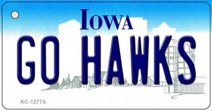 Go Hawks Novelty Metal Key Chain KC-12774