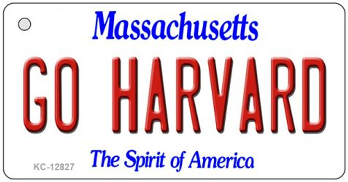 Go Harvard Novelty Metal Key Chain KC-12827