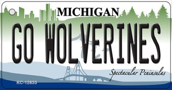 Go Wolverines Novelty Metal Key Chain KC-12833