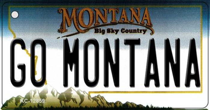 Go Montana Novelty Metal Key Chain KC-12859