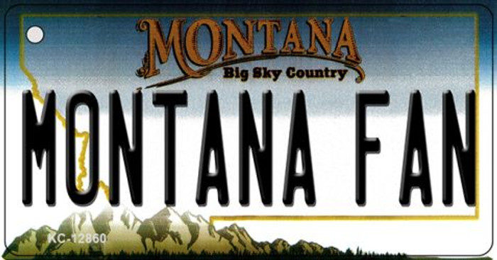 Montana Fan Novelty Metal Key Chain KC-12860