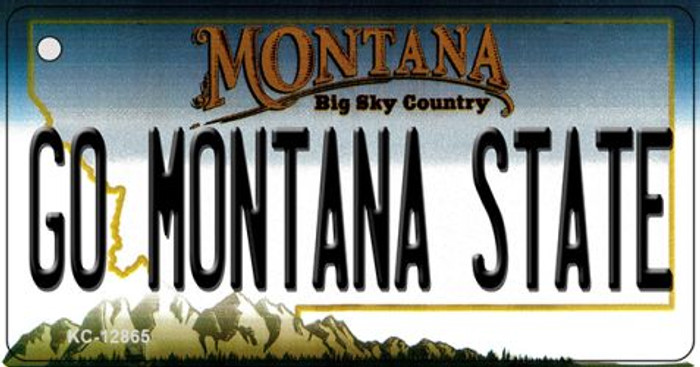 Go Montana State Novelty Metal Key Chain KC-12865