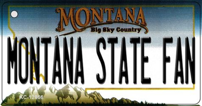 Montana State Fan Novelty Metal Key Chain KC-12866