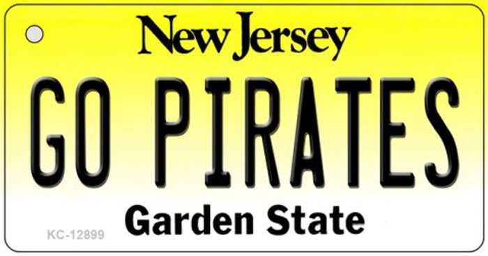 Go Pirates Novelty Metal Key Chain KC-12899