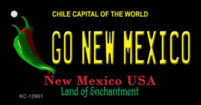 Go New Mexico Novelty Metal Key Chain KC-12901