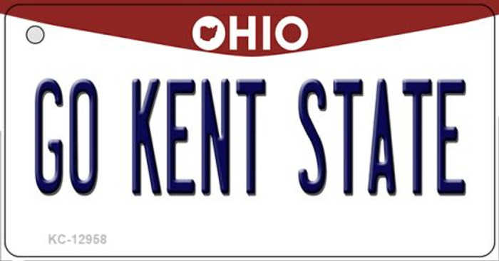 Go Kent State Novelty Metal Key Chain KC-12958
